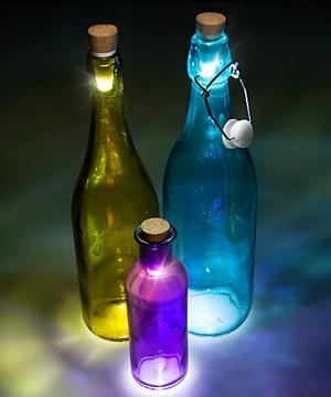 Светящаяся пробка для бутылки, LED-подсветка, зарядка от USB