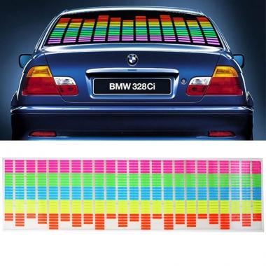 Наклейка LED-эквалайзер на заднее стекло автомобиля